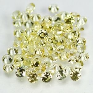 one carat total 100% Natural Yellow Sapphire